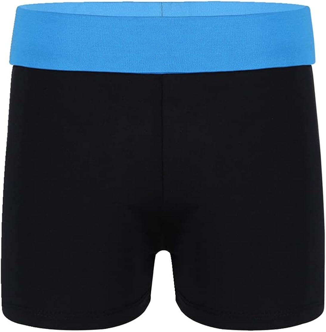 JEEYJOO Kids Girls Elastic Waistband Sports Workout Activewear Shorts Gymnastic Swimming Bottoms