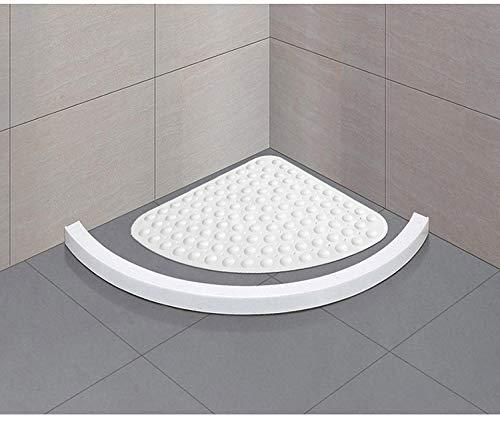 zfq Fan Bad rutschfeste Schiefe Dreieckige Gekrümmte Kissen Badewanne Hotel Transparente Badezimmer-Matte 64 * 64CM Real Color White