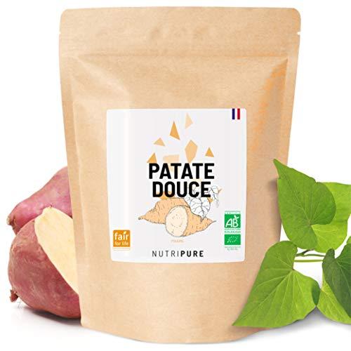 Farine de Patate Douce BIO & Vegan • 750 G • 100% Naturelle • Alternative sans Gluten & sans OGM • Basifiant • Indice Glycémique Bas • Idéale au petit déjeuner & en Pâtisserie • En Poudre • Nutripure