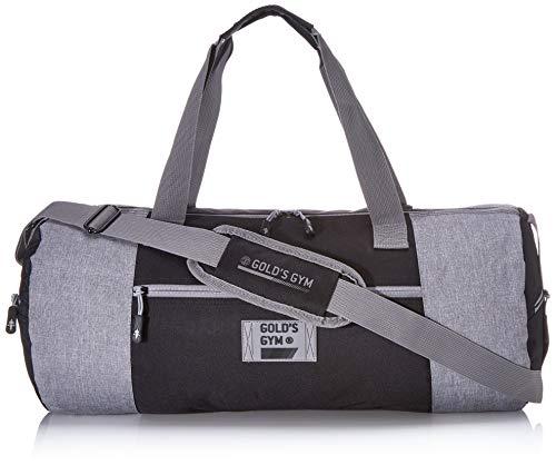 Golds Gym Barrel Bag Kontrast, Schwarz und Grau