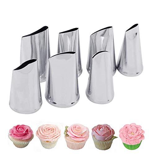 7pcs/set Cake Decorating Tips Set Cream Icing Piping Fondant Rose Nozzle Pastry Tools Fondant Decorating Tools