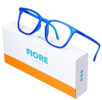Blue Light Blocking Glasses for Men and Women   Reading and Gaming Computer Glasses with Anti-Glare Light Protection  Royal Blue
