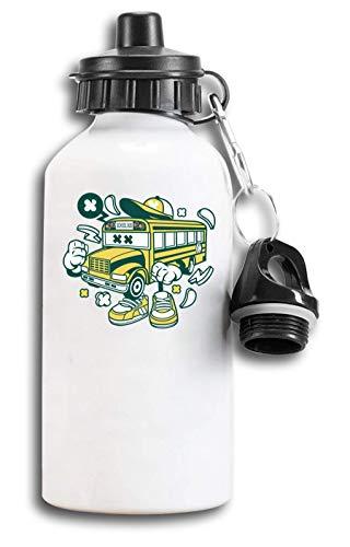 Iprints Cartoon Stijl School Bus Leren Vervoer Toeristische Waterfles