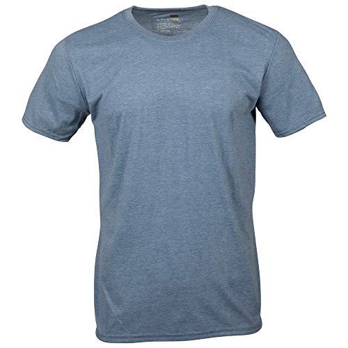 Gold Toe Men's Crew Neck T-Shirt, Heather Indigo, Medium