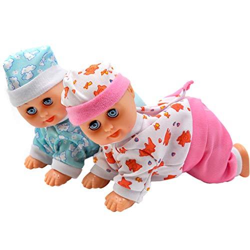 Weishazi Lustige elektrische intelligente Puppe lachend weinend singend krabbelnd Baby Puppe Spielzeug Mädchen Spielzeug Geschenk