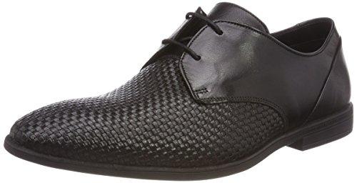 Clarks Men's Bampton Weave Black Leather Formal Shoes
