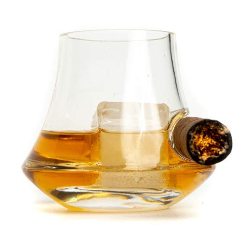 Cigar glass - Old Fashioned Whiskey Glass - whiskey glass with cigar holder