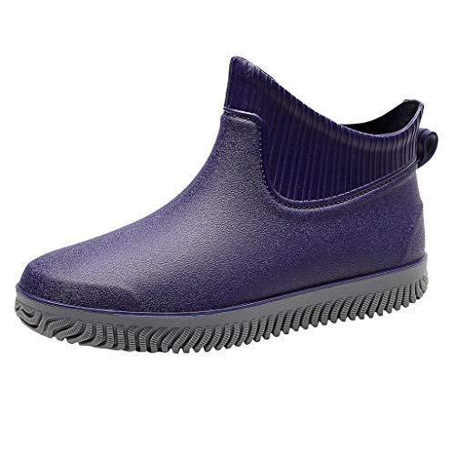 RefillRegenstiefel Herren,Herren Gummistiefel Wasserdicht Atmungsaktiv PCV Regen Boots Outdoor Boots...