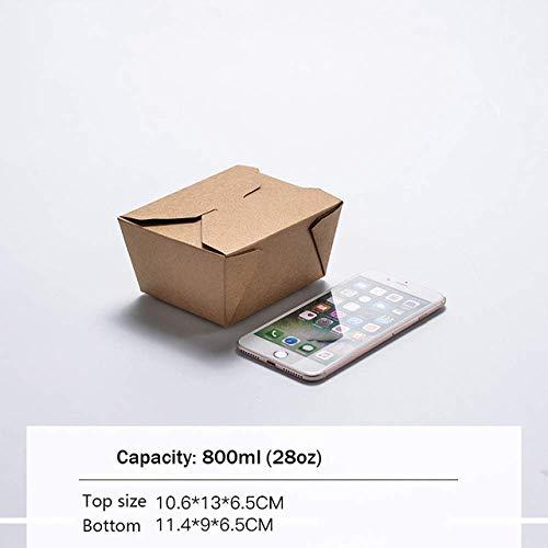 Nfudishpu Boîte à Bento Jetable Sushi 50 / 100PCS Bento Pain Gâteau Boîte Cuisine Outil Déballage Barbecue Matériel Partie