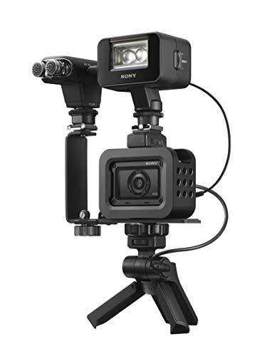 Sony RX100 III Creator Kit - Premium Kompakt Digitalkamera (20.1 MP, 7,6 cm (3 Zoll) Display) + VCT-SGR1 Handgriff, schwarz & SanDisk Extreme PRO 128GB SDXC Speicherkarte bis zu 170 MB/s