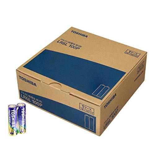 東芝 アルカリ乾電池 単3形1パック100本入り LR6L 100P