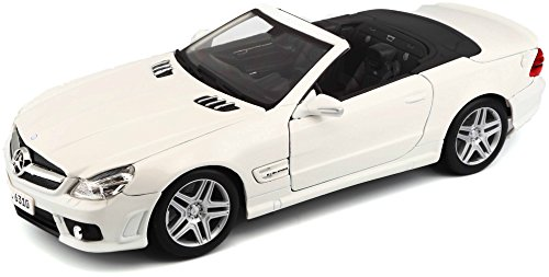 Maisto 531168 Mercedes SL63 AMG Cabrio '09 - Coche miniatura (escala 1:18), colores surtidos