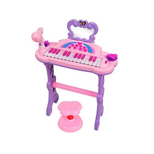 LIUFS-El teclado Teclado Infantil Piano Chica Pequeño Piano Principiantes Rompecabezas Música Juguete Regalo De Cumpleaños (color : Pink)