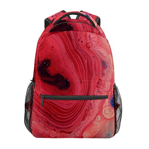 Schulrucksack Strange Ink Art Pink Casual Travel Laptop Daypack Canvas Book Taschen für Damen Mädchen Jungen Student Erwachsene Herren