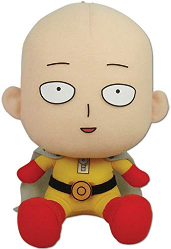 Great Eastern Entertainment One Punch Man Saitama Collectible Plush Toy, 5""