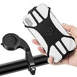 MOSUO Support Téléphone Vélo Moto, Réglable Porte Téléphone pour Bicyclette avec Rotation 360° pour iPhone XS Max/XR/XS/X/8 Samsung Galaxy Huawei GPS et 4.0'-6.5' Pouces Smartphones