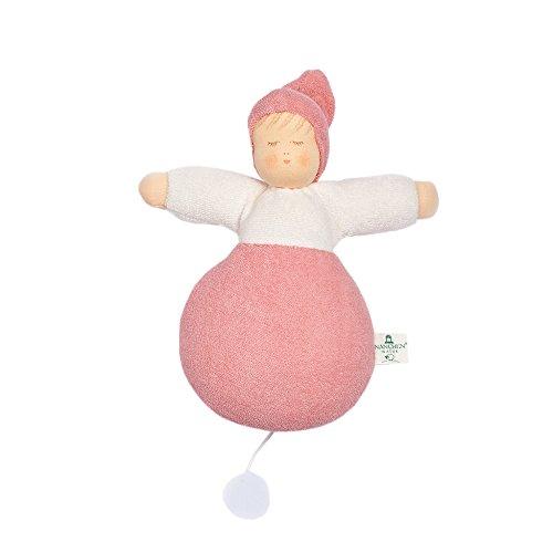 Nanchen Träumsüß-Spieluhr Bio-Baumwolle/Bio-Schurwolle, Guten Abend gute Nacht, Rosa, Gr. 21 cm