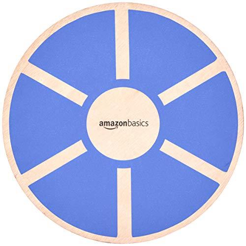 AmazonBasics Wood Wobble Balance Board - 16.2 x 16.2 x 3.6 Inches, Blue