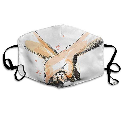 Atmungsaktive Premium Gesichtsschutzhülle,Liebe Gesichtsdekorationen Skizze des Paares Händchen Haltend Für Hochzeit Valentinstag Frauen Männer Anti Wind Staubschutz Schutzhülle Für Skifahren Campin