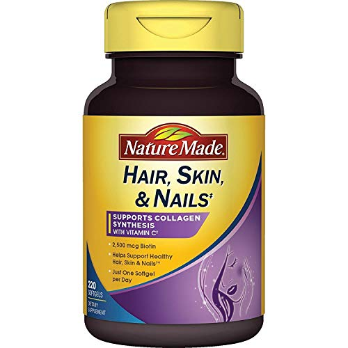Nature Made Hair, Skin & Nails w. 2500 mcg of Biotin Softgels Value Size 220 Ct.
