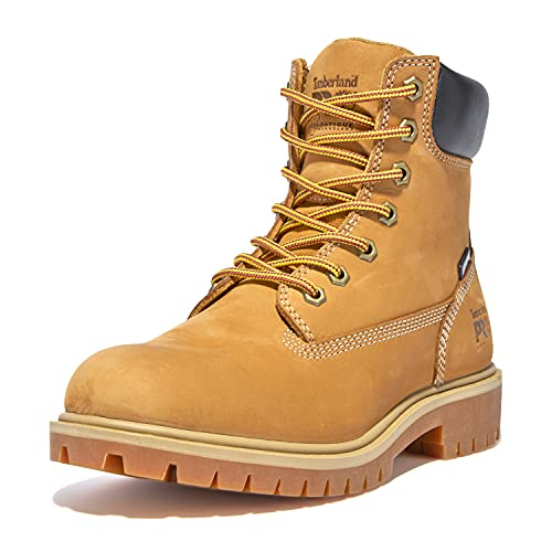 """Timberland PRO womens Direct Attach 6"""" Soft Toe Waterproof Industrial Boot, Wheat Nubuck Leather, 6.5 US"""