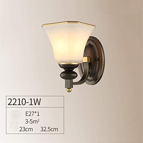 Wandverlichting, buislampen, wandlamp, 1-voudig, aisle, nachtkastje, spiegel, hal, Europese, mooie decoratie, ijzer, glas