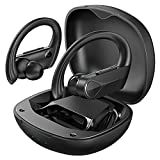 Wireless Earphones, Flame Solo Wireless Earbuds, Deep Bass IPX7 Waterproof Bluetooth Earbuds, 28H Playtime, USB-C Fast Charging, Sports Headphones in Ear with Built-in Mic for Sports and Work