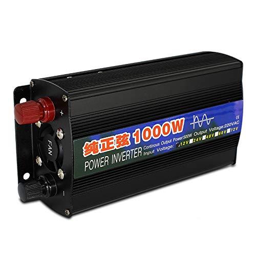 Inversor 1000W inversor 12v 220v onda sinusoidal pura 12V CC / 24V a AC 220V 50Hz Energía de convertidor elevador for el hogar del coche del inversor Inversores de corriente (Color : 1000W)