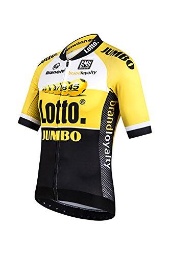 Santini Replica Lotto Jumbo 15 - Maillot de Ciclismo para Hombre, Color...