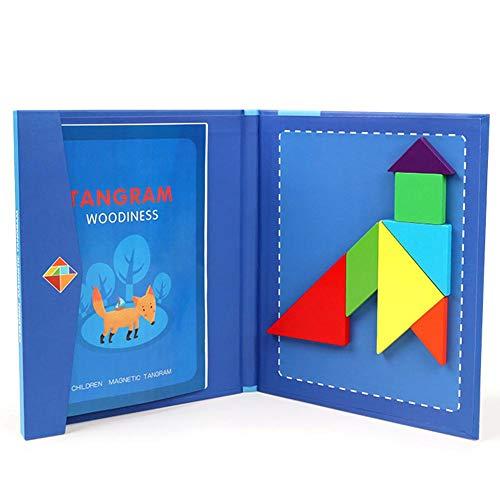 Reiserätsel Buch Magnetische Tangram Spiele Lernspielzeug für Kinder und Erwachsene