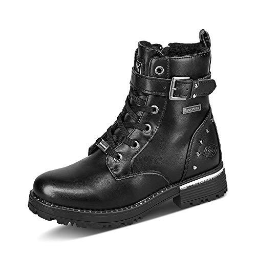 Dockers by Gerli Jungen Mädchen 45SR712 Mode-Stiefel, Schwarz, 34 EU