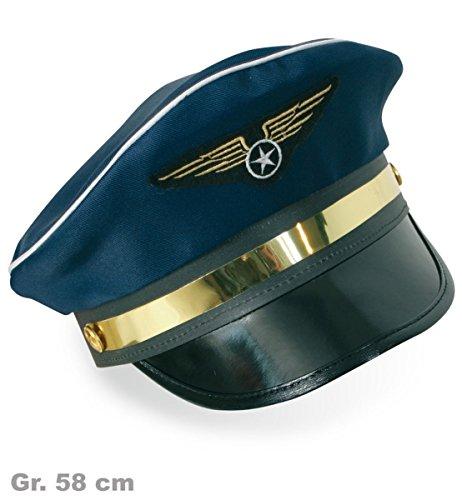FASCHING 38213 Piloten-Mütze Hut Pilot NEU/OVP