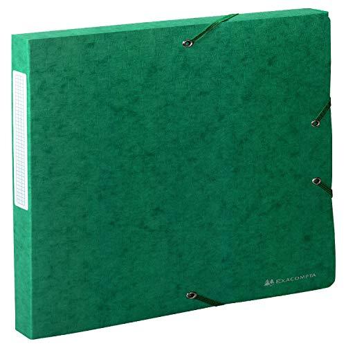Exacompta 50703E - Carpeta de proyecto con goma, color verde