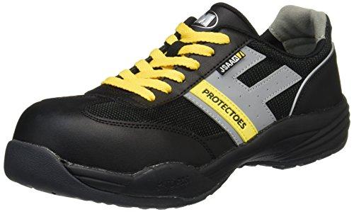 [ミドリ安全] 安全作業靴 JSAA認定 静電気帯電防止 プロテクトウズ5 プロスニーカー PF110静電 メンズ ブラック 25.0 cm