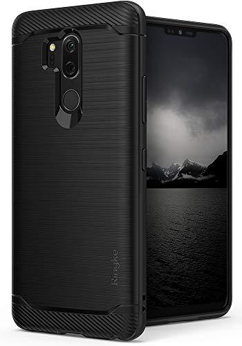 Ringke Cover LG G7 ThinQ [Onyx] [Forza Resistente] Durevole Flessibile, Durevole Antiscivolo, Custodia Difensiva in TPU per LG G7 ThinQ (2018) - Black