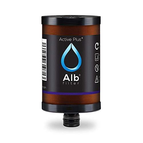 Alb Filter® Active Plus+ Trinkwasserfilter Ersatzkartusche reduziert Bakterien, Keime, Schadstoffe, Schwermetalle, Mikro-Plastik und Kalk