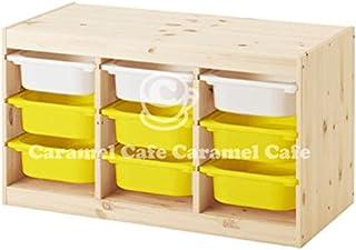 IKEA TROFAST(トロファスト)収納コンビネーション パイン材 イエロー 94x44x52cm PY-WS3Y6
