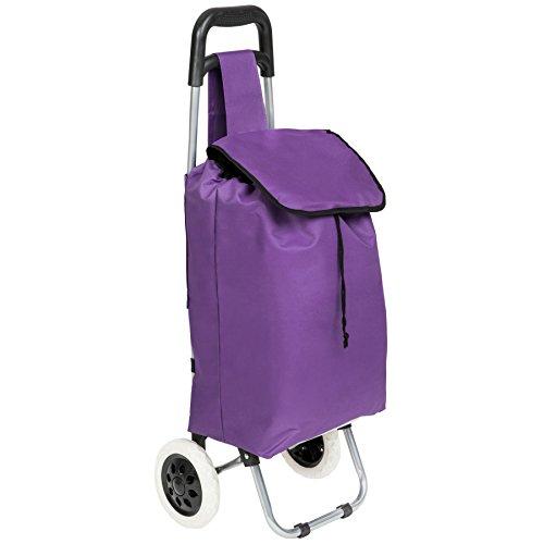 TecTake Einkaufstrolley Einkaufsroller klappbar - Diverse Farben - (Lila | Nr. 401269)
