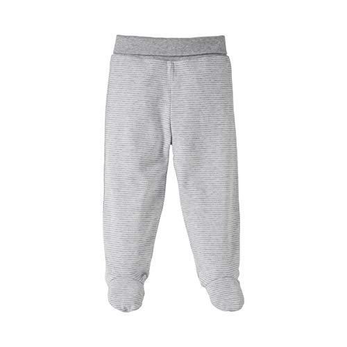 Bornino Basics Stoffhose mit Fuß - Baby-Hose aus Reiner Baumwolle mit Komfortbund & angesetzten Füßchen - Interlock-Qualität