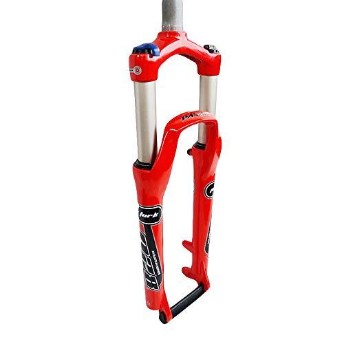 LIDAUTO Ajuste de Rebote 26inches P28 del tapón de Aire de Horquilla de suspensión de Bicicleta de montaña Recta