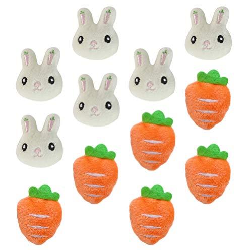VALICLUD 12 Piezas Pascuas Broche Pin Mini Conejo Forma de Zanahoria Solapa Pin Insignia Dibujos Animados Alfileres para Mochilas Ropa Bolsos Chaquetas Sombrero Pascua Fiesta Favores