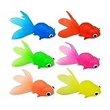 TOYANDONA 6 Piezas de Peces Artificiales de Peces de Acuario Plástico Flotantes Peces de Colores Decoración de Tanque de Peces Falsos Ornamentos