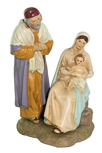 Ferrari & Arrighetti Nativity Scene Figurine: Holy Family - Martino Landi Collection - 12 cm