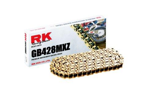 RK Racing Chain Gb428mxz-116 Doré 116-links Heavy Duty Chaîne avec Connecting Link