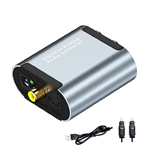De digital a analógico convertidor de audio óptico Toslink a RCA L/R con 3,5 mm de cable óptico Jack CAD Converter para PS4 Xbox Televisión DVD