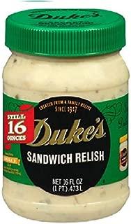 Duke's Sandwich Relish 16oz Pack of (2) (2 jars)