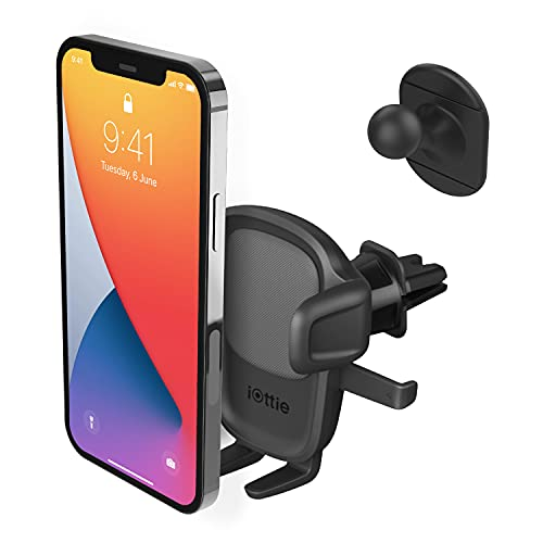 iOttie Easy One Touch 5 Air Vent Car Mount Phone Holder W/Flush Mount for iPhone, Samsung, Moto, Huawei, Nokia, LG, Smartphones