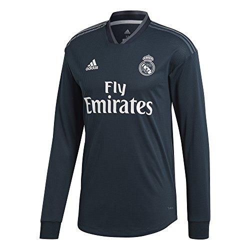 adidas Real A JSY AU L - Camiseta Manga Larga 2ª equipación Real Madrid, Hombre, Gris(ÓNITÉC/ONIFUE/Blanco)