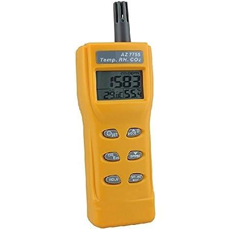 medidor de CO2 temperatura interior y humedad montado en la pared sensor NDIR seguimiento en tiempo real Kacsoo Detector digital port/átil de calidad de aire equipado con alarma