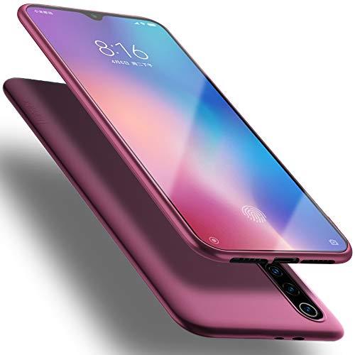 X-level Coque Xiaomi Mi 9, [Guardian Series] Housse en Souple Silicone TPU Ultra Mince et Anti-Rayures de Protection Etui pour Mi 9 Case Cover - Vin Rouge